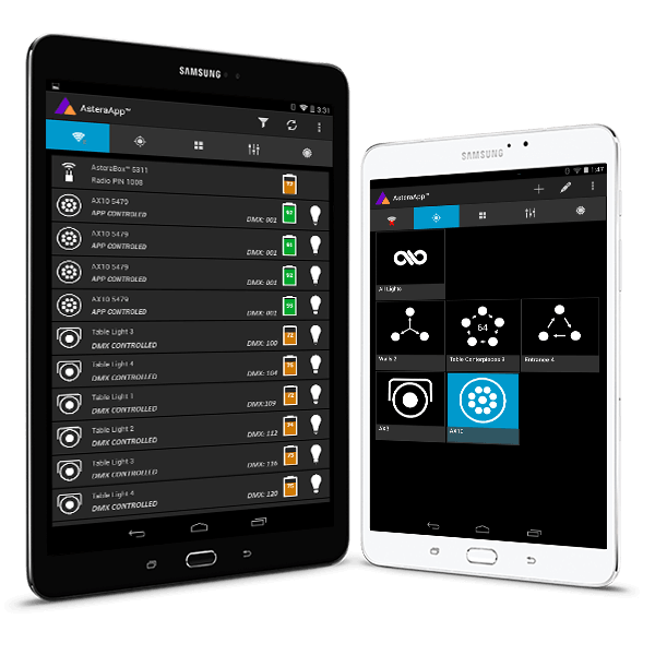The most advanced Professional Lighting control App
